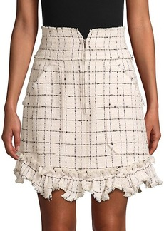 Rebecca Taylor Plaid Mini Tweed Skirt