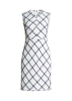 Rebecca Taylor Plaid Tweed Sheath Dress