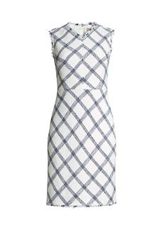 Rebecca Taylor Plaid Tweed Sheath Dress