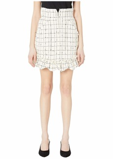Rebecca Taylor Plaid Tweed Skirt