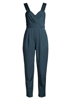 Rebecca Taylor Pleated Cropped Leg Jumpsuit