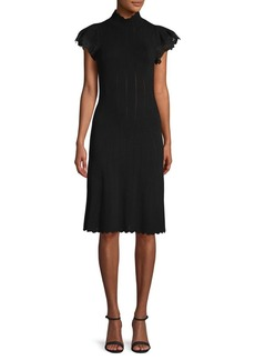 Rebecca Taylor Pointelle Lace Sheath Dress
