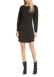 Rebecca Taylor Polka Dot Jersey Shift Dress