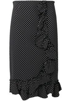 Rebecca Taylor polka-dot ruffle skirt