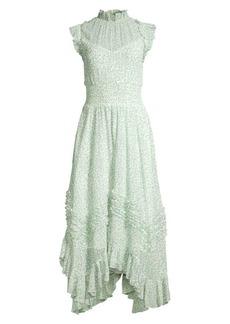 Rebecca Taylor Printed Ruffle Dress
