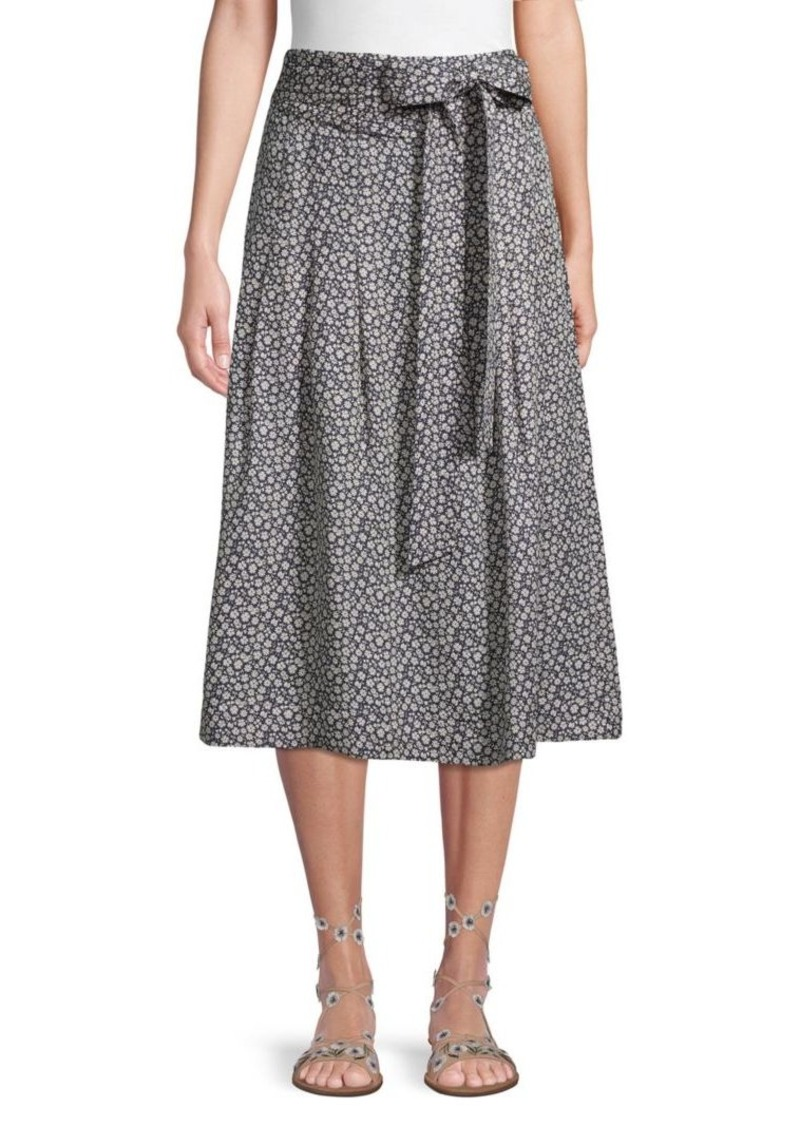 Rebecca Taylor Printed Silk Skirt