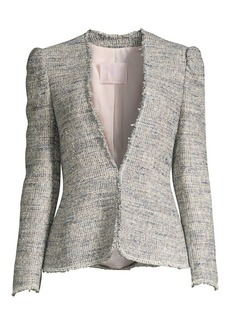Rebecca Taylor Puff Sleeve Tweed Jacket