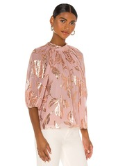 Rebecca Taylor 3/4 Sleeve Datura Floral Blouse