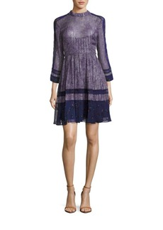 Rebecca Taylor A-Line Ruffle Dress