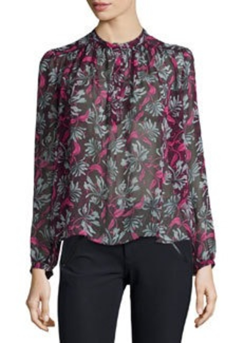 Rebecca Taylor Long-Sleeve Mystic Floral Blouse