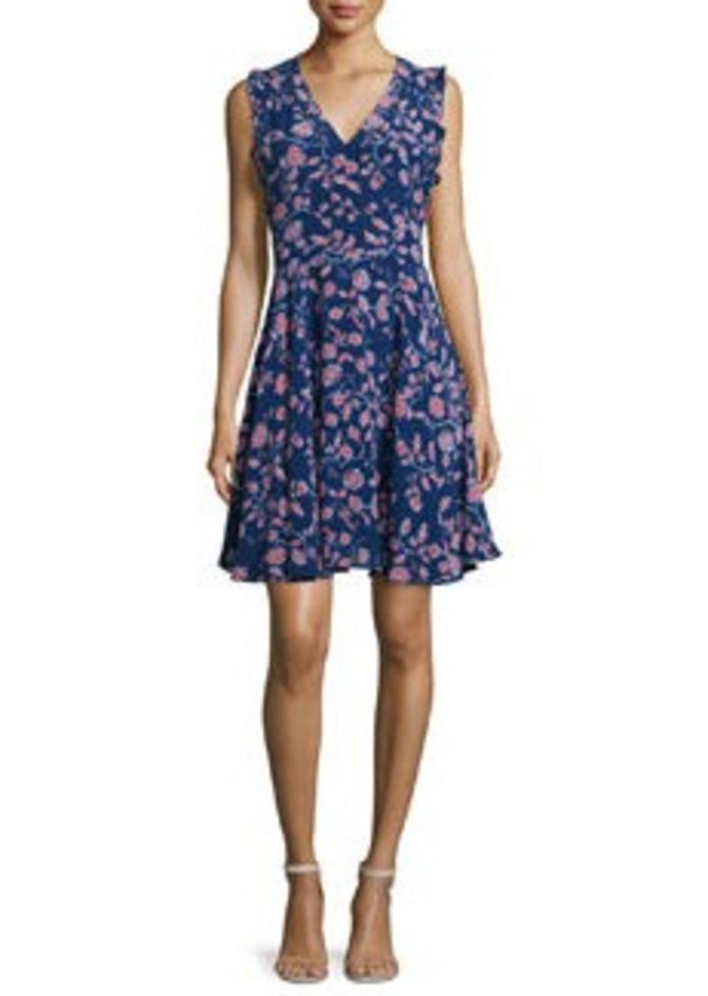Rebecca Taylor Kyoto Sleeveless Floral-Print Dress