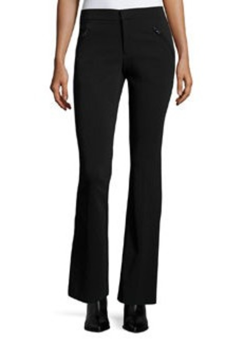 Rebecca Taylor Techy Slim-Fit Boot-Cut Pants