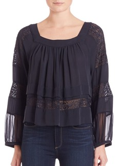 Rebecca Taylor Ada Embroidered Top