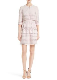 Rebecca Taylor Adeline Eyelet Embroidered Popover Dress