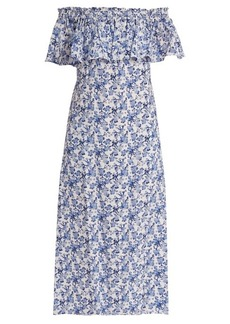 Rebecca Taylor Aimee floral-print off-the-shoulder silk dress