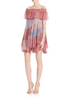 Rebecca Taylor Amanda Off-Shoulder Dress