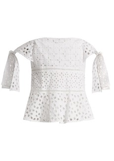 Rebecca Taylor Amora broderie-anglaise cotton top