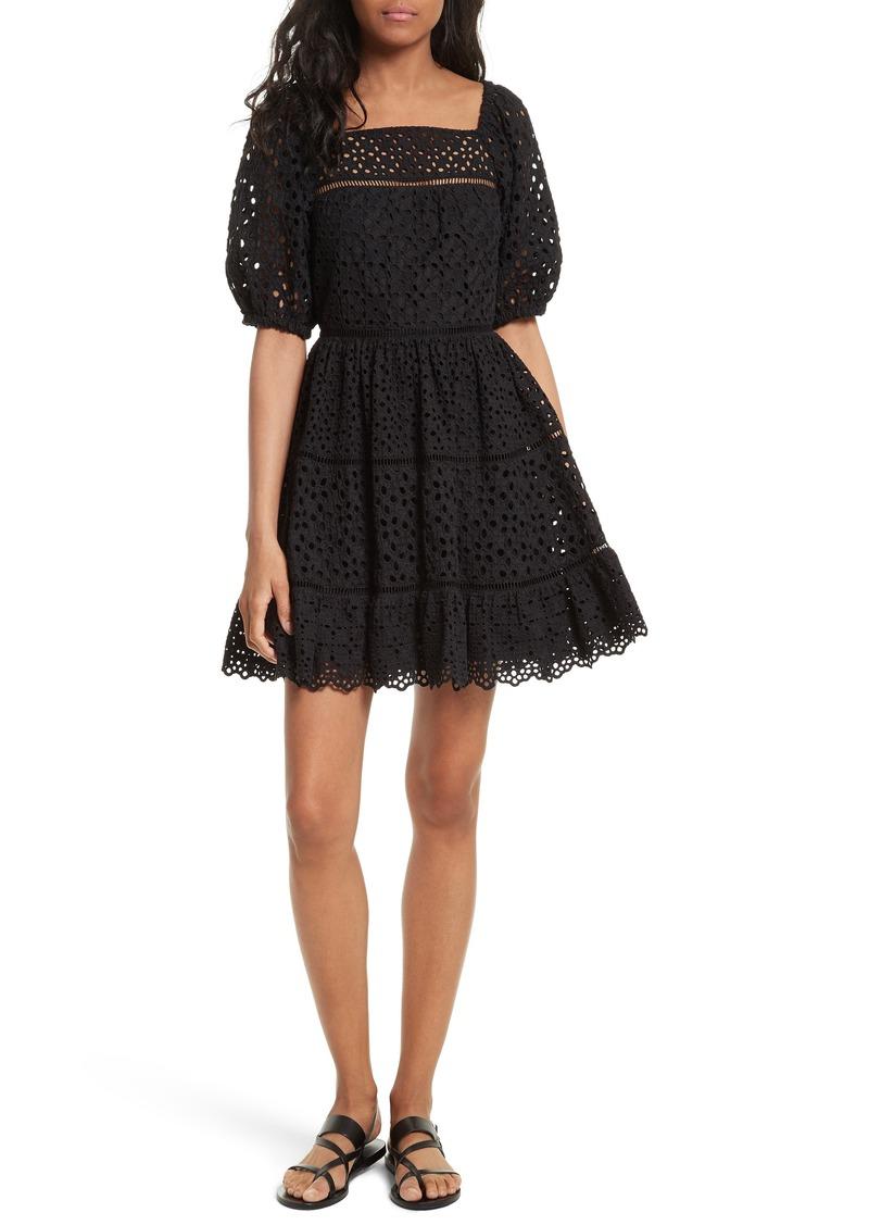 Amora Eyelet Dress Rebecca Taylor