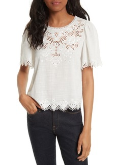 Rebecca Taylor Amore Embroidered Top