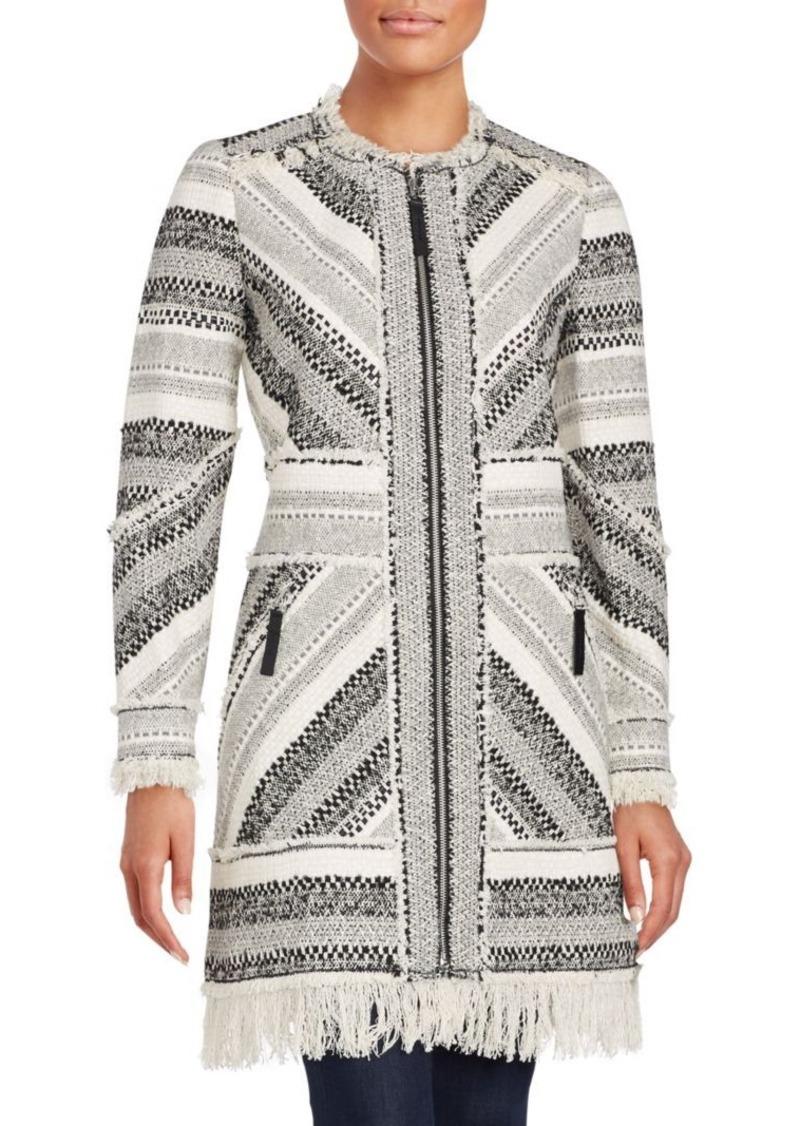Rebecca Taylor Artisan Textured Cotton Blend Coat