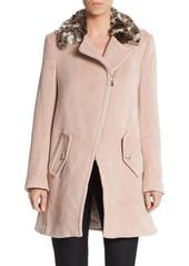 Rebecca Taylor Asymmetrical Wool Coat