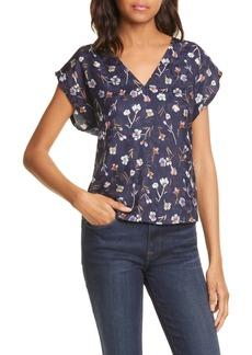 Rebecca Taylor Aurelie Floral Jacquard Silk Blend Blouse (Nordstrom Exclusive Color)