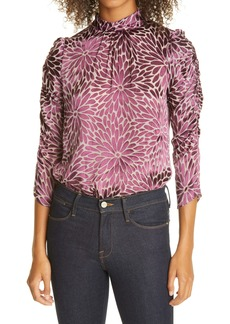 Rebecca Taylor Autumn Bloom Burnout Blouse