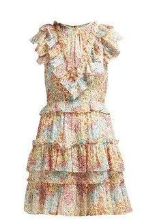 Rebecca Taylor Ava ruffled floral-print silk-blend dress