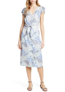 Rebecca Taylor Ava Tie Waist Silk Dress