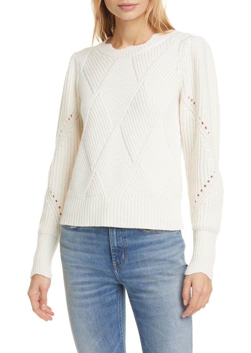 Rebecca Taylor Basket Weave Crewneck Sweater