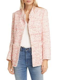 Rebecca Taylor Beckie Cotton Blend Tweed Jacket