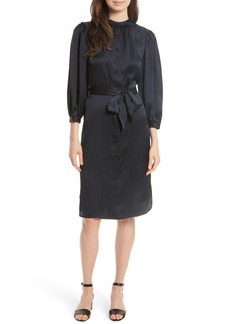 Rebecca Taylor Belted Silk Shirtdress
