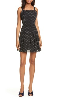 Rebecca Taylor Bird's Eye Dot Fit & Flare Dress