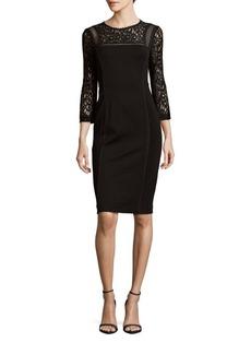Rebecca Taylor Boatneck Lace Dress