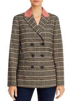 Rebecca Taylor Boucl� Plaid Double-Breasted Jacket