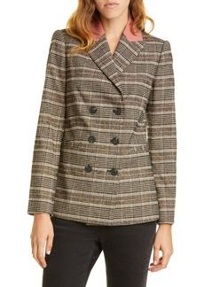 Rebecca Taylor Bouclé Plaid Jacket