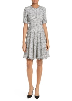 Rebecca Taylor Bouclé Tweed Fit & Flare Dress