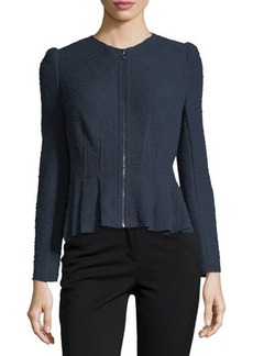 Rebecca Taylor Bouclé Tweed Peplum Jacket