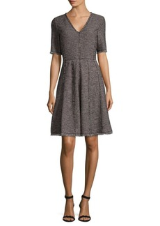 Rebecca Taylor Boucle A-Line Dress