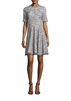 Rebecca Taylor Boucle Tweed Fit-&-Flare Dress
