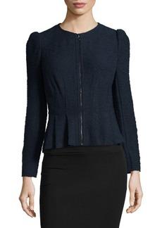 Rebecca Taylor Boucle Tweed Peplum Jacket