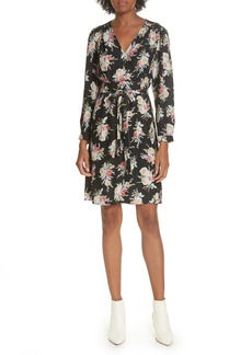Rebecca Taylor Bouquet Silk A-Line Dress