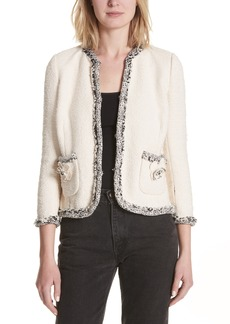Rebecca Taylor Braided Trim Tweed Jacket