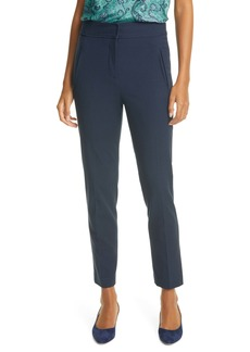 Rebecca Taylor Button Tab Basketweave Pants