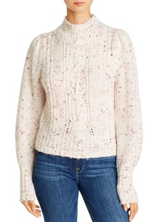 Rebecca Taylor Cable Knit Turtleneck Sweater