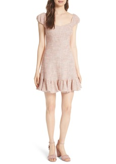 Rebecca Taylor Cap Sleeve Tweed Dress