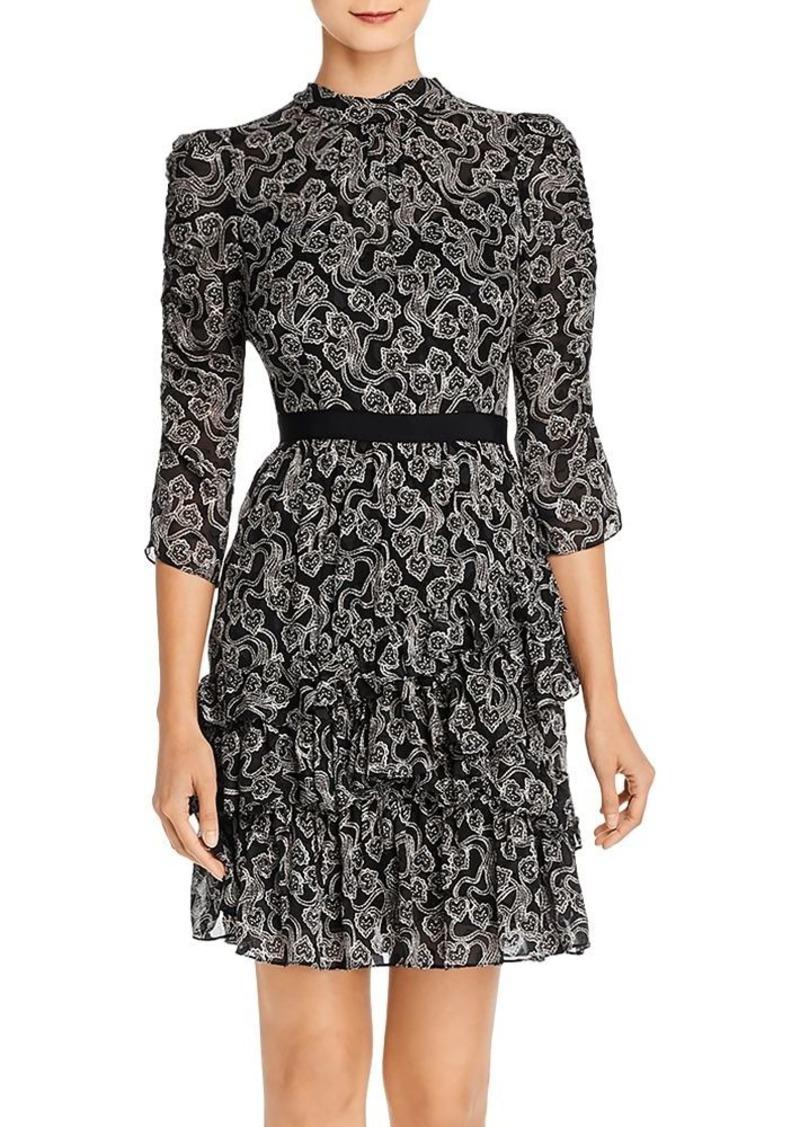 Rebecca Taylor Celia Silk-Blend Lace Dress