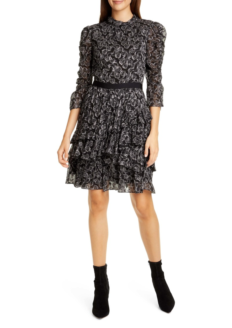 Rebecca Taylor Celia Silk Chiffon Dress