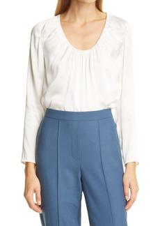 Rebecca Taylor Charm Long Sleeve Silk Blouse