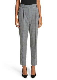 Rebecca Taylor Check Pleat Front Pants
